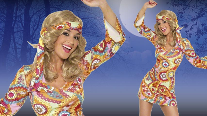 1960s Paisley Hippie Costume