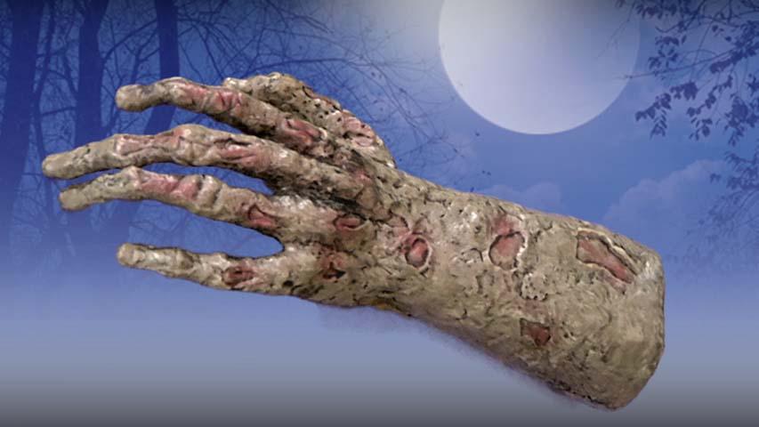 Animated Reaching Hand- Halloween Prop
