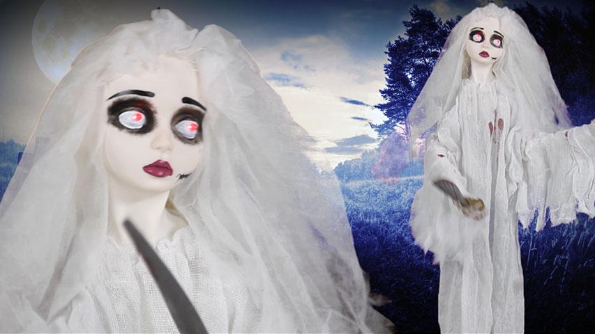 Animated Slashing Bride w/Knife