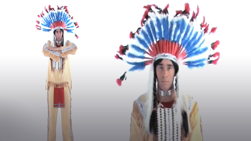 Authentic Western Indian Chief Costume