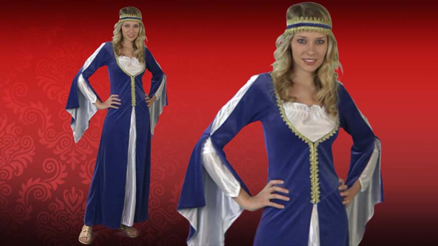 Blue Regal Princess Costume