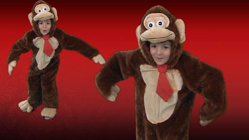 Child Brown Gorilla Tie Costume