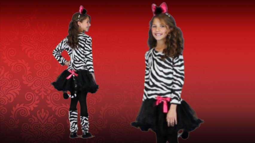 Child Little Zebra Costume