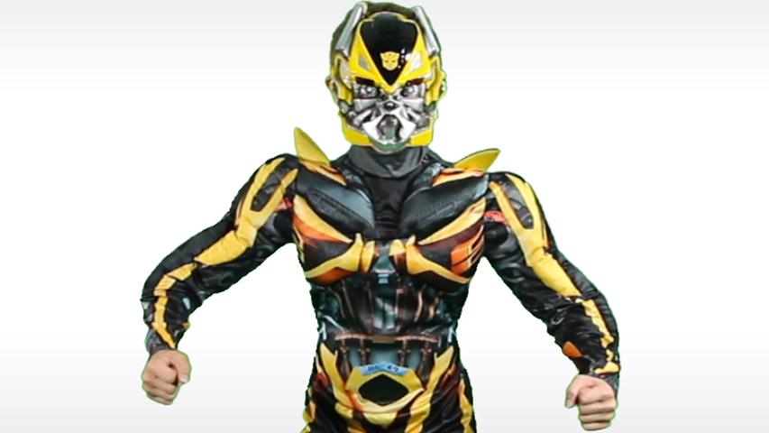 Child Bumblebee Classic Muscle Movie Costume