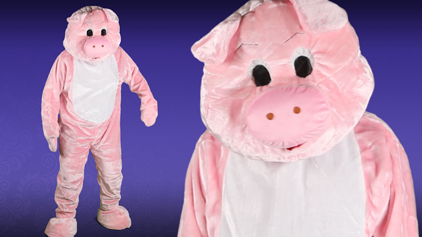 Deluxe Pig Mascot Costume