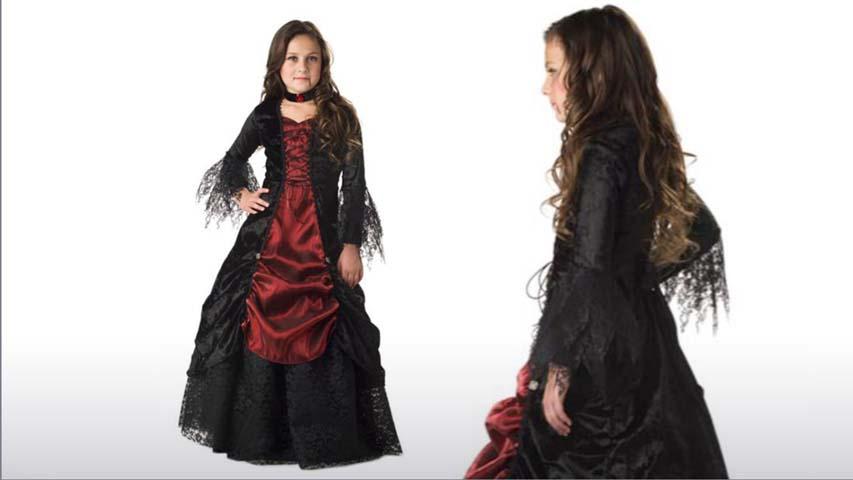 Girls Gothic Vampira Costume