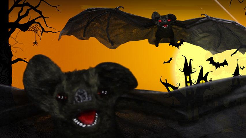 Hanging Brown Bat-Eyes Light Up