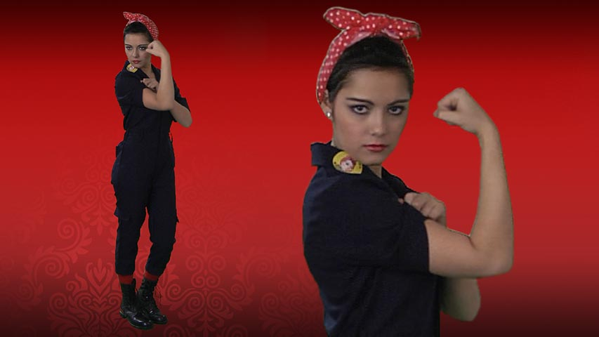 Hardworking Lady- Rosie the Riveter Costume
