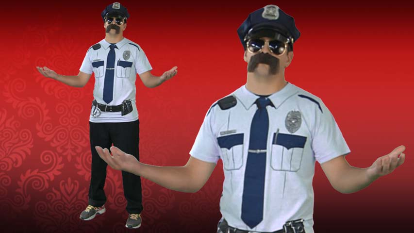 Johnny Law Cop Costume T-Shirt