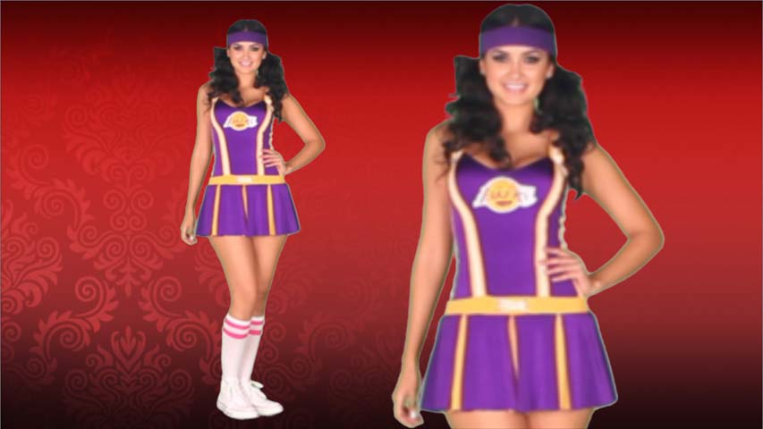 NBA Lakers Cheerleader Costume