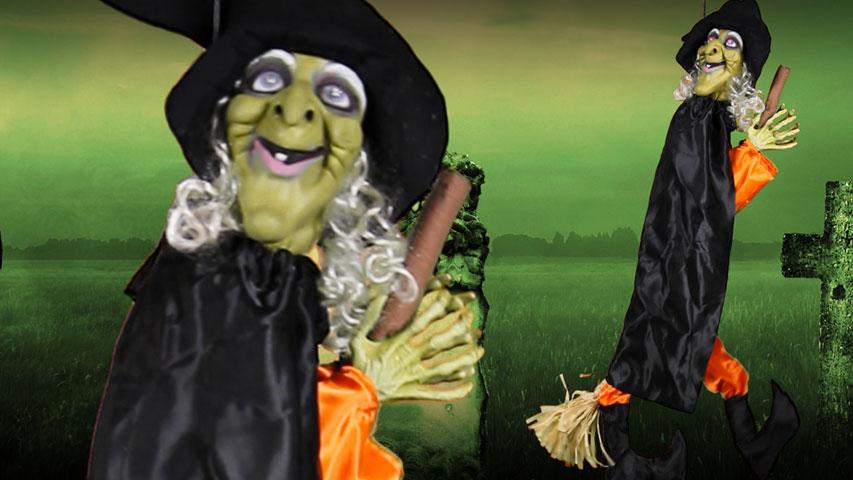 Leg Kicking Witch w/ Broom