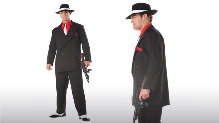 Mens Mafia Gangster Costume