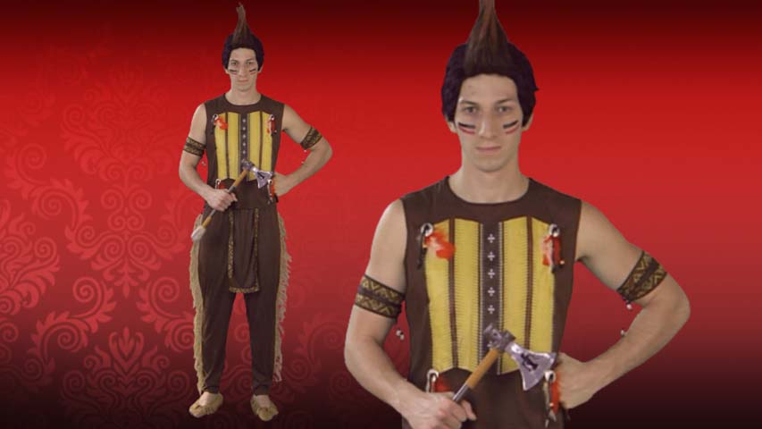 Mens Noble Indian Warrior Costume