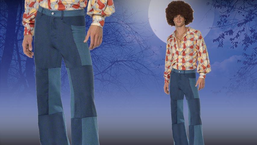 Mens Patchwork Pants