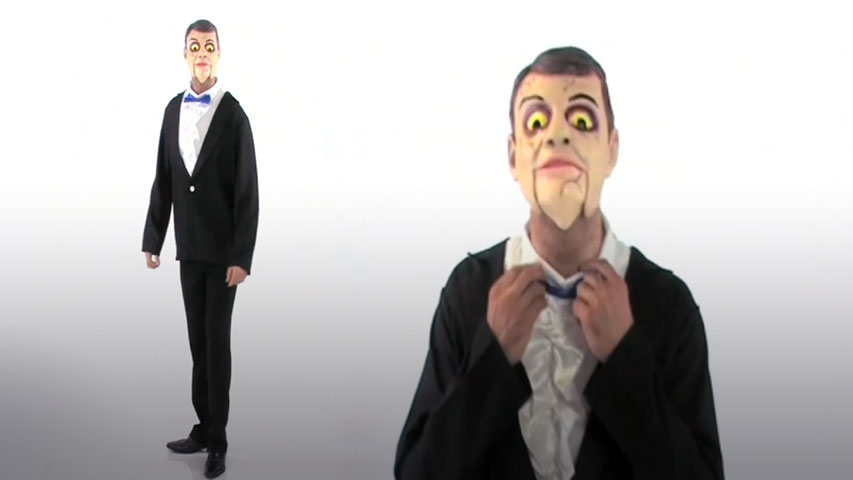 Men's Ventriloquist Dummy Costume