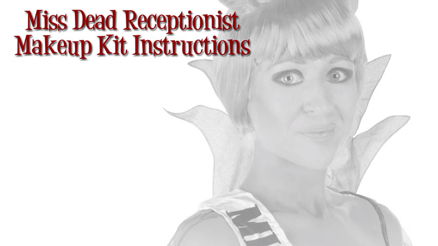 Miss Dead Receptionist Makeup Kit Instructions