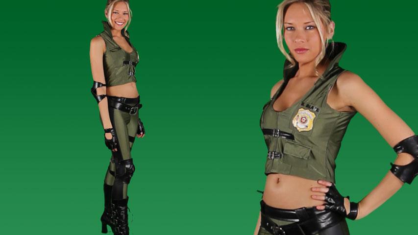 Mortal Kombat Deluxe Sonya Blade Costume
