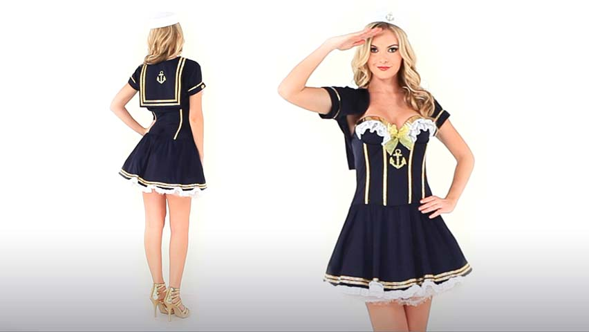 Navy Pin Up Sailor Costume