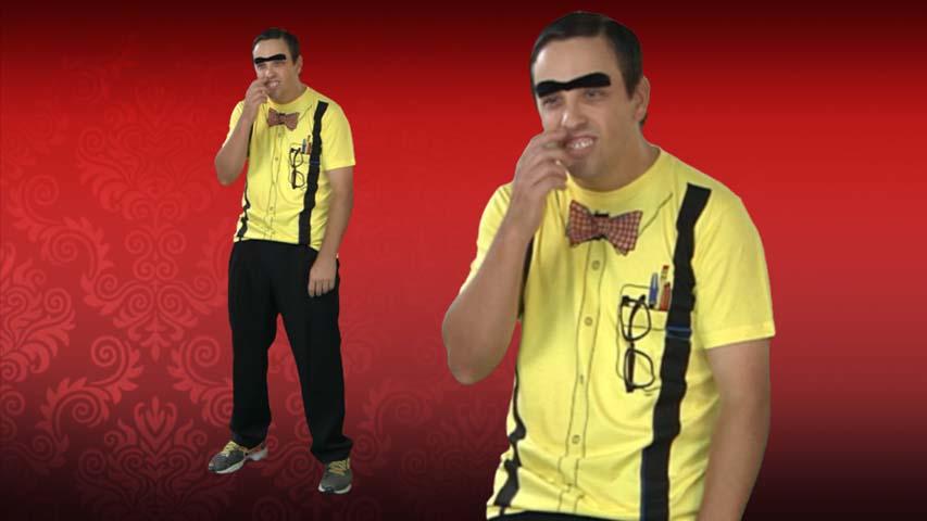Nerd Costume Yellow T-Shirt