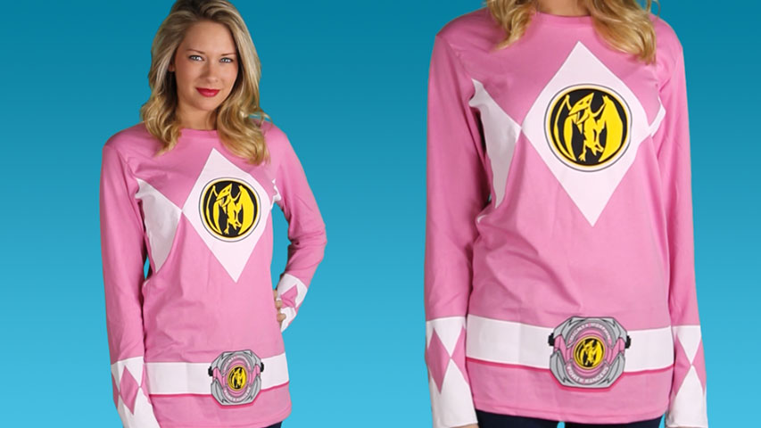Pink Power Rangers Long Sleeve Costume Shirt