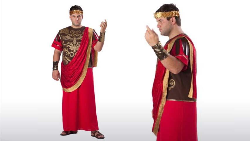 Plus Size Roman Caesar Costume