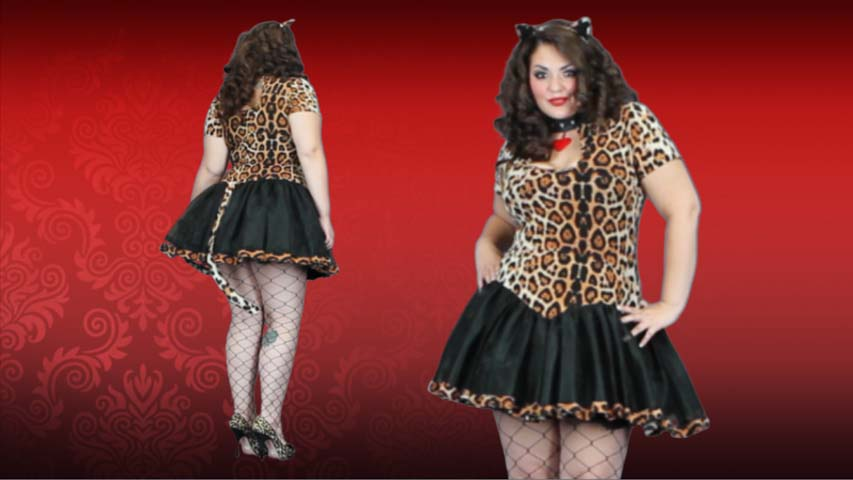 Plus Size Cougar Costume