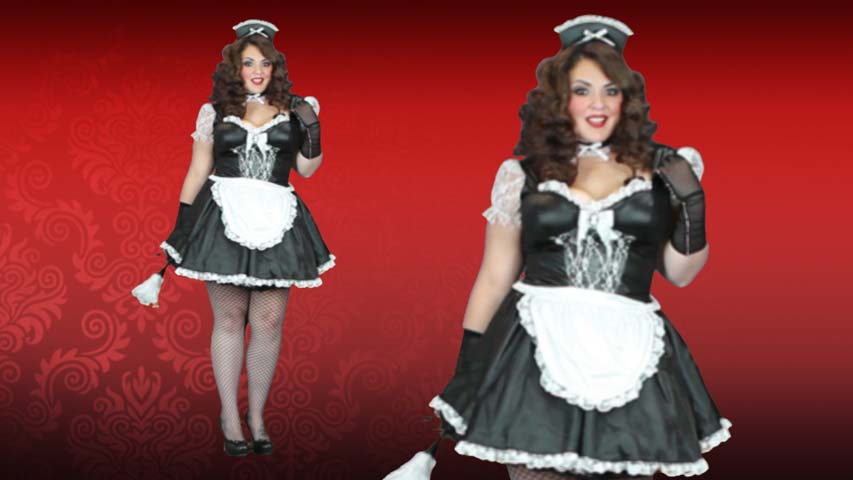 Plus Size Manor Maid Costume