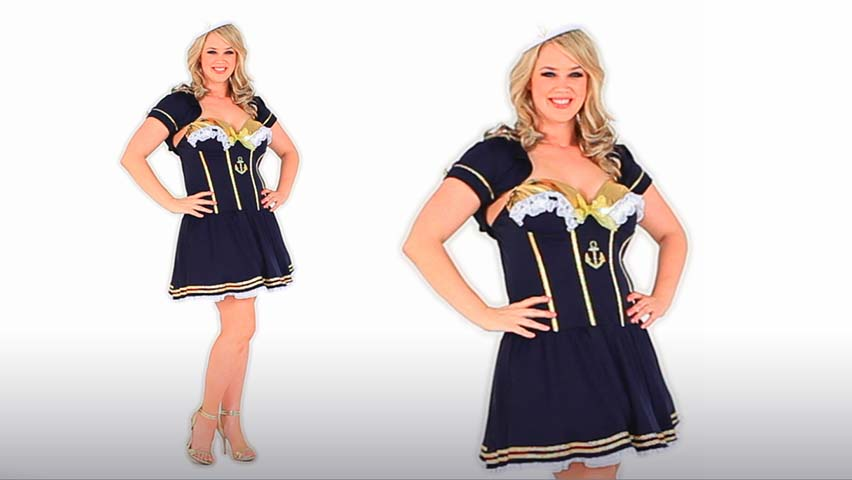 Plus Size Navy Pin Up Sailor