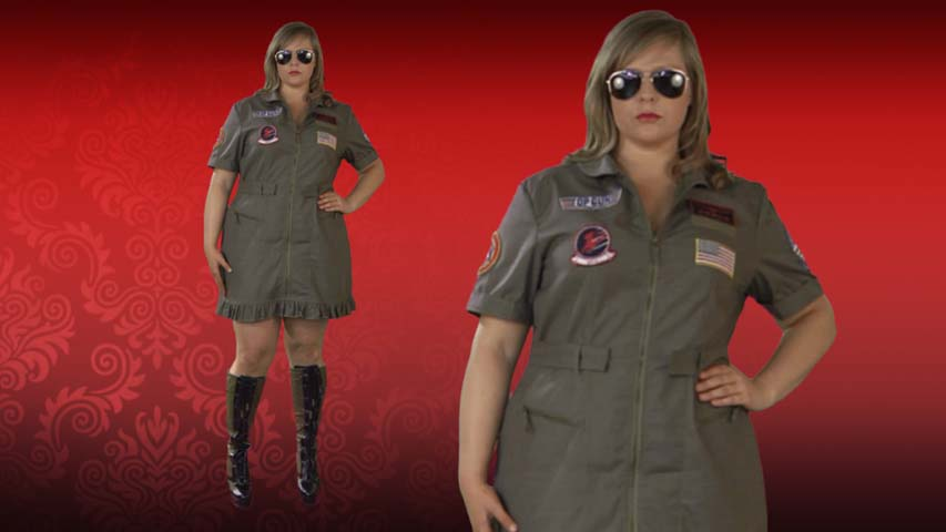 Plus Size Sexy Top Gun Costume