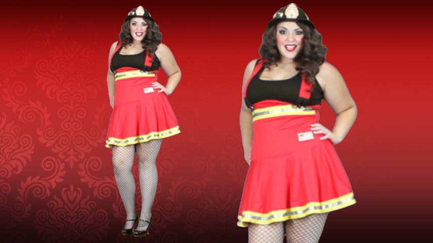Plus Size Hottie Firefighter Costume
