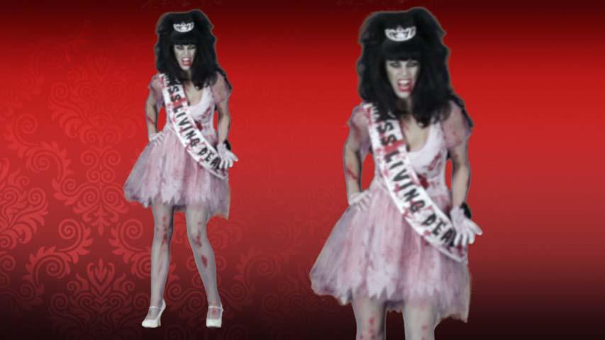 Putrid Zombie Prom Queen Costume