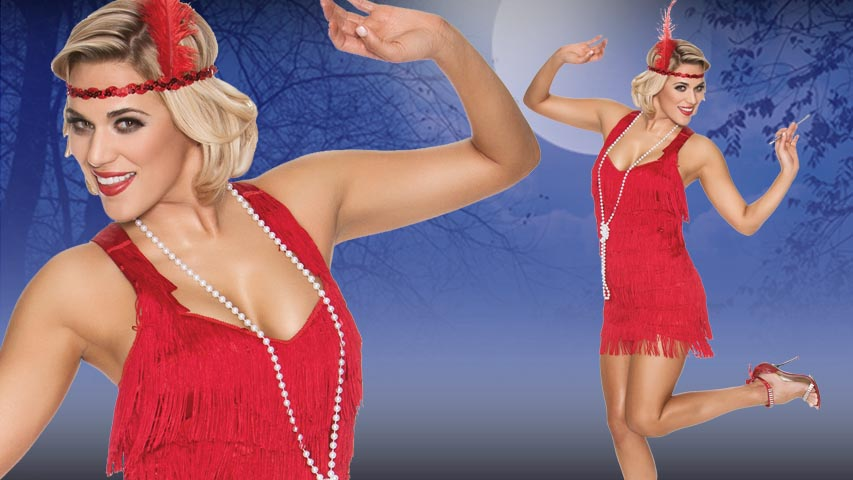 Red Lindy Lace Flapper Costume