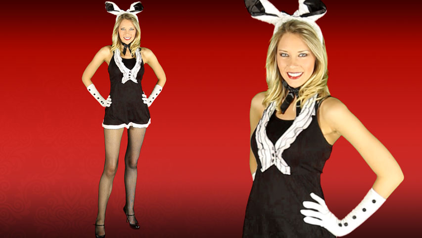 Sexy Black Tie Bunny Costume