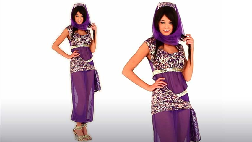 Sexy Purple Genie Costume