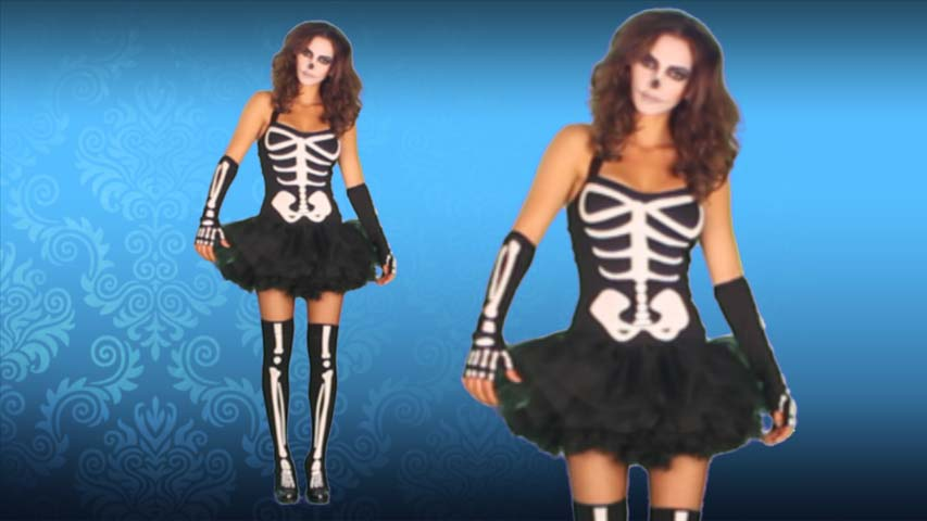 Sexy Undead Skeleton Costume