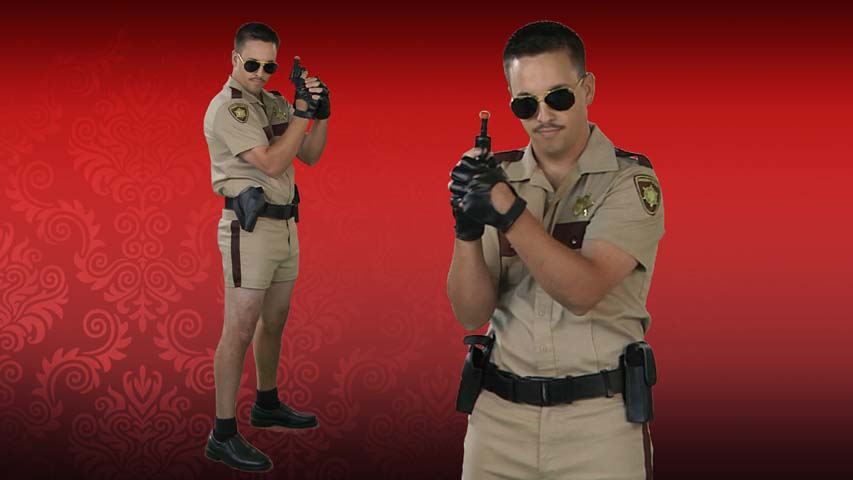 Short Shorts Sheriff Costume