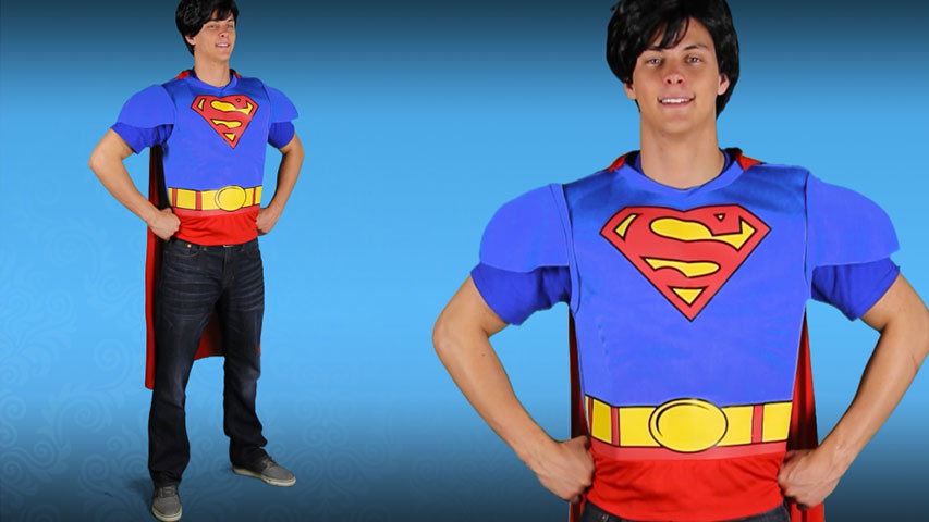 Superman Adult Muscle Chest Shirt