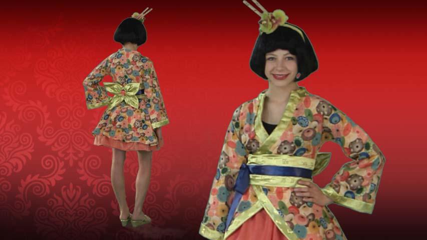 Tween Jade Geisha Costume