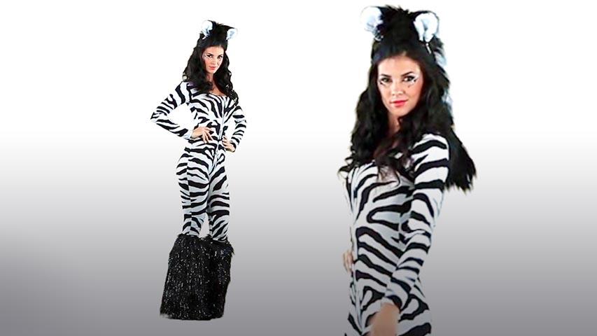 Wild Zebra Bodysuit Costume