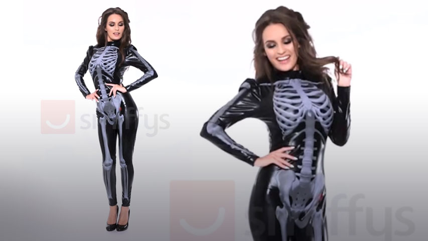 Womens Fever Skeleton Costume