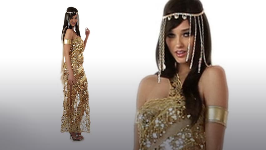 Womens Golden Goddess Costume