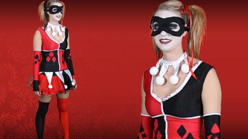 Women's Harley Jester Costume