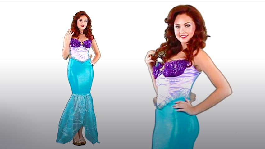 Womens Undersea Ariel Costume